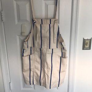 H&M Bib Overall Dress Size 12